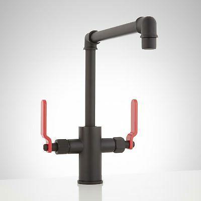 edison single hole dual lever handle kitchen