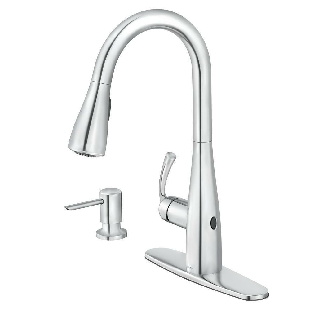 MOEN Essie Touchless Pull-Down Sprayer Kitchen Faucet ...