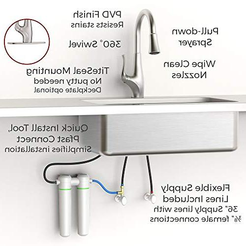 Pfister Pull Down Kitchen Integrated GE Stainless