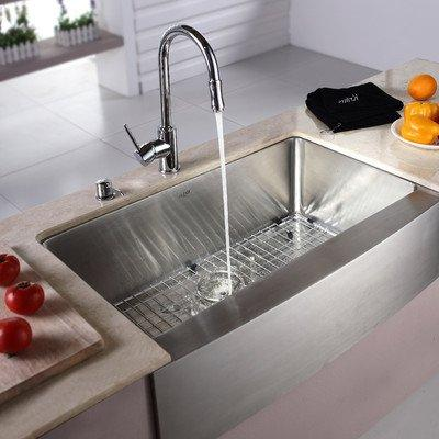 Kraus Single Stainless Kitchen Sink Dispenser