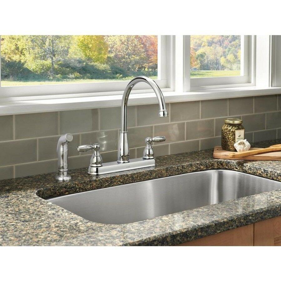 Delta Foundations Kitchen Faucet Sink 2 Handle Standard Side