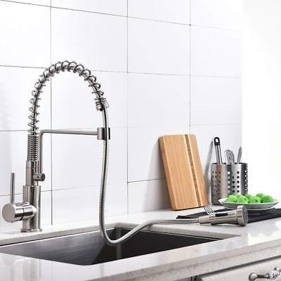 Pull Out Kitchen Bar Brushed Nickel Tap