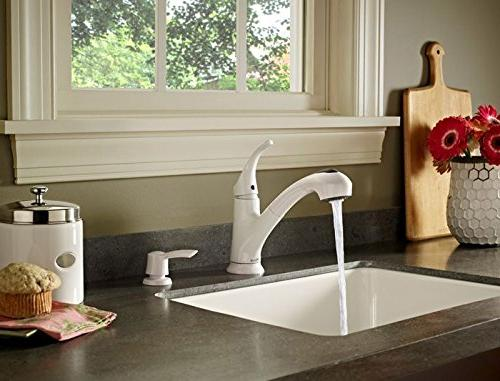 Pfister FWKP701W Pull-Out Kitchen Faucet with Soap