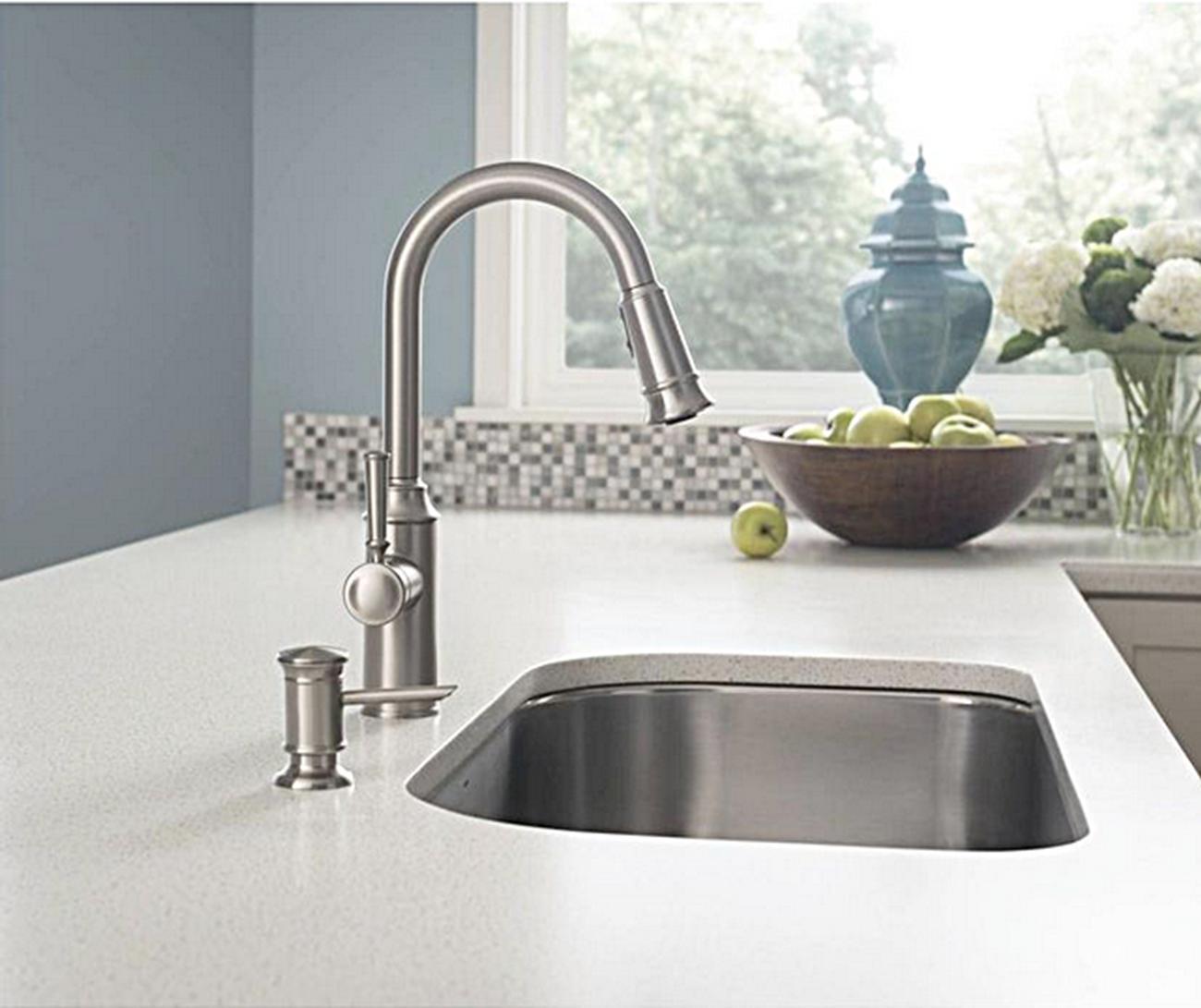 Moen Glenshire 87731SRS Stainless Kitchen Faucet Soap Dispenser