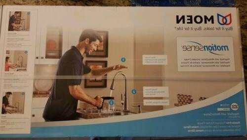 Moen Haysfield Touchless Kitchen Faucet Motion Sense - Stain