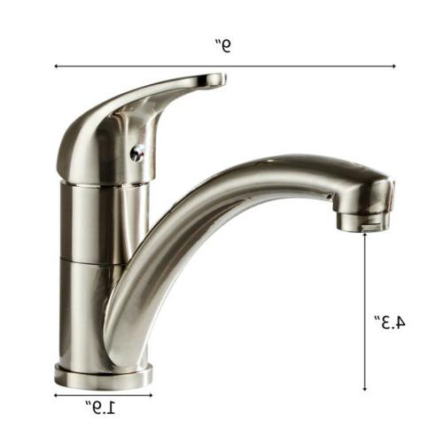 Chrome Kitchen Faucet Spout Swivel Sink Tap US