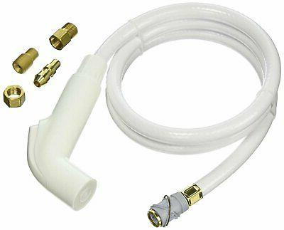 Spray and Hose Assembly for Kitchen Faucets - Finish: White