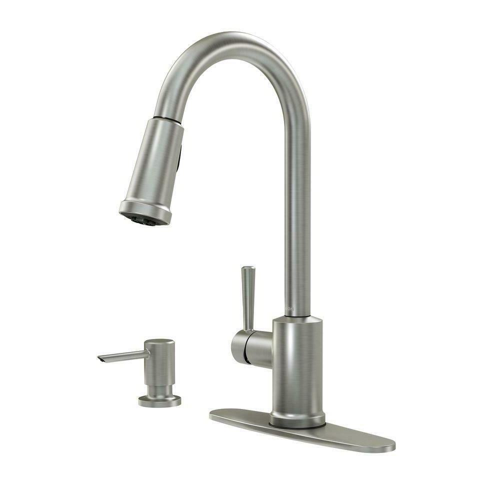Moen 87090MSRS Indi 1 Handle Pull-Down Kitchen Faucet,