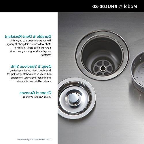Kraus KHU100-30-1640-42CH Faucet with Dispenser