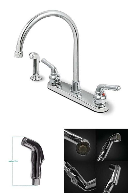 Kitchen Bath Fixtures Faucet Spray High Swivel Spout Chrome