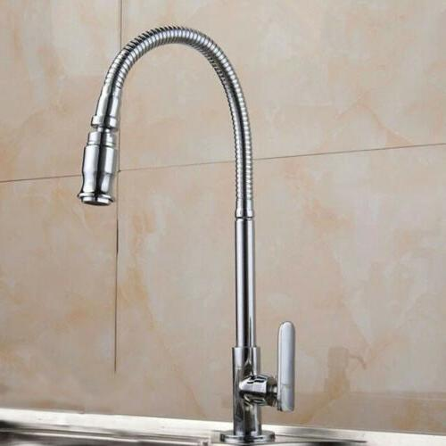 Kitchen Faucet Pull Single Mounted