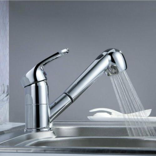 New Classic Single Handle Kitchen Sink Faucet With Pull Out