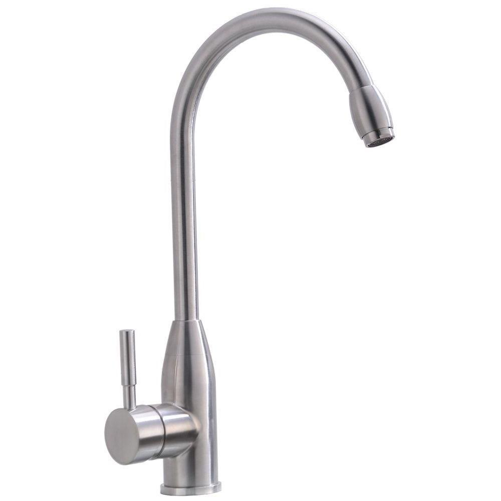 Hotis Home Single Handle/Hole Brushed Stainless Steel