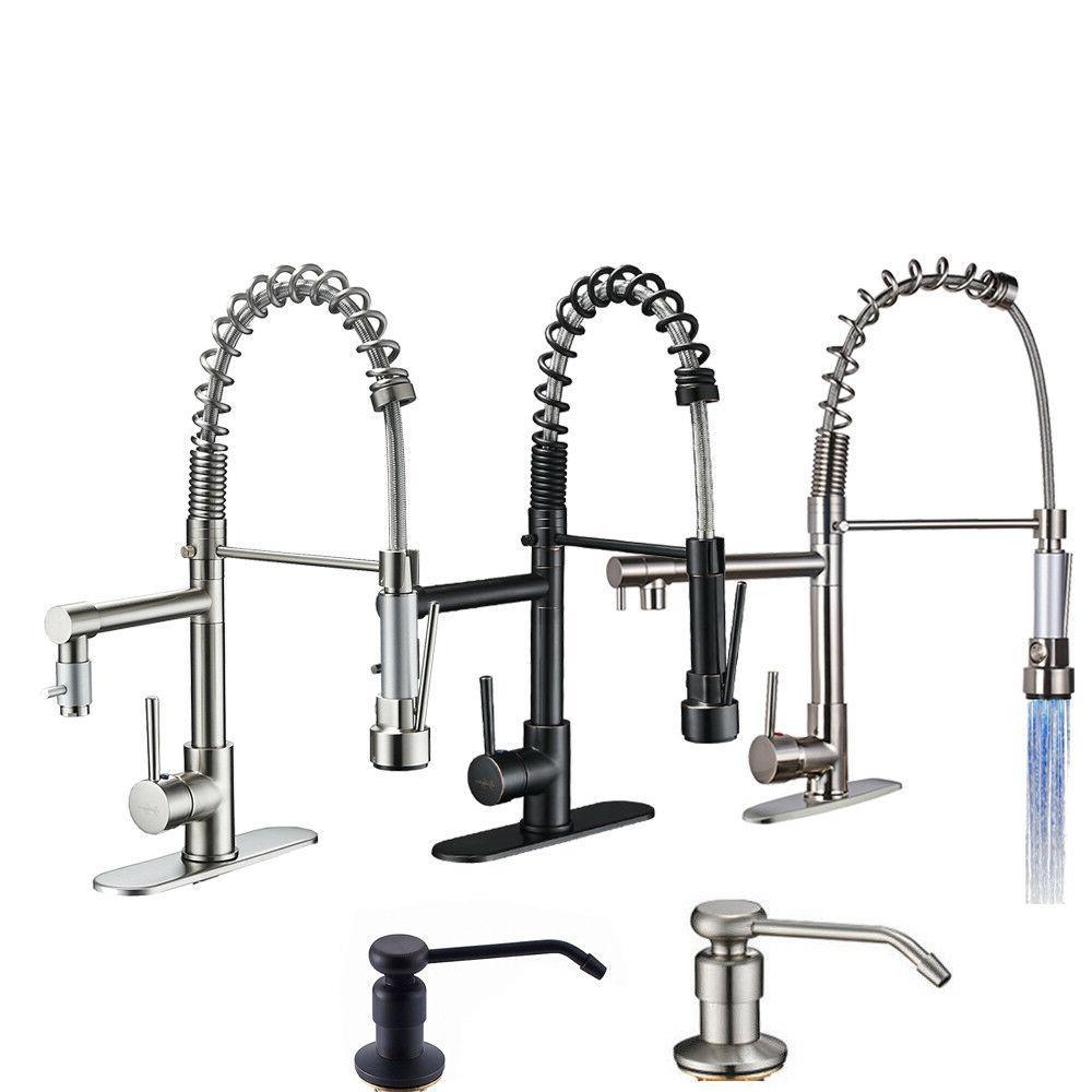 kitchen faucet swivel spout pull down sprayer