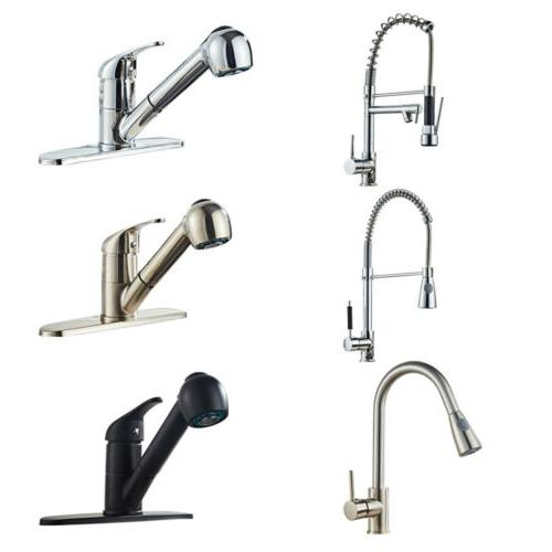 chrome kitchen bar faucet brushed nick single