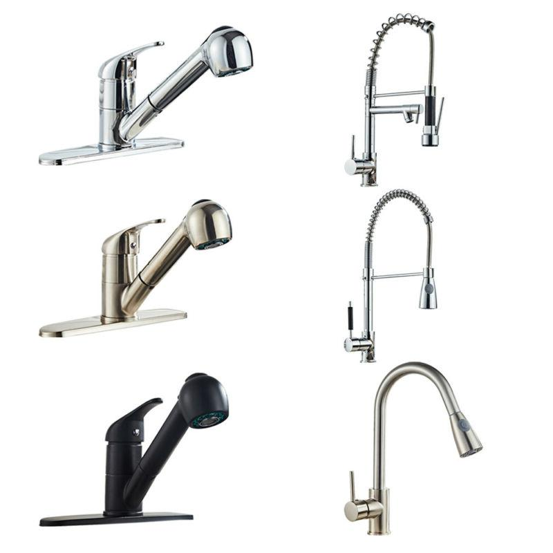 """All Copper Kitchen Spring Faucet Pull Down With 8.66"""" Nozzle"""