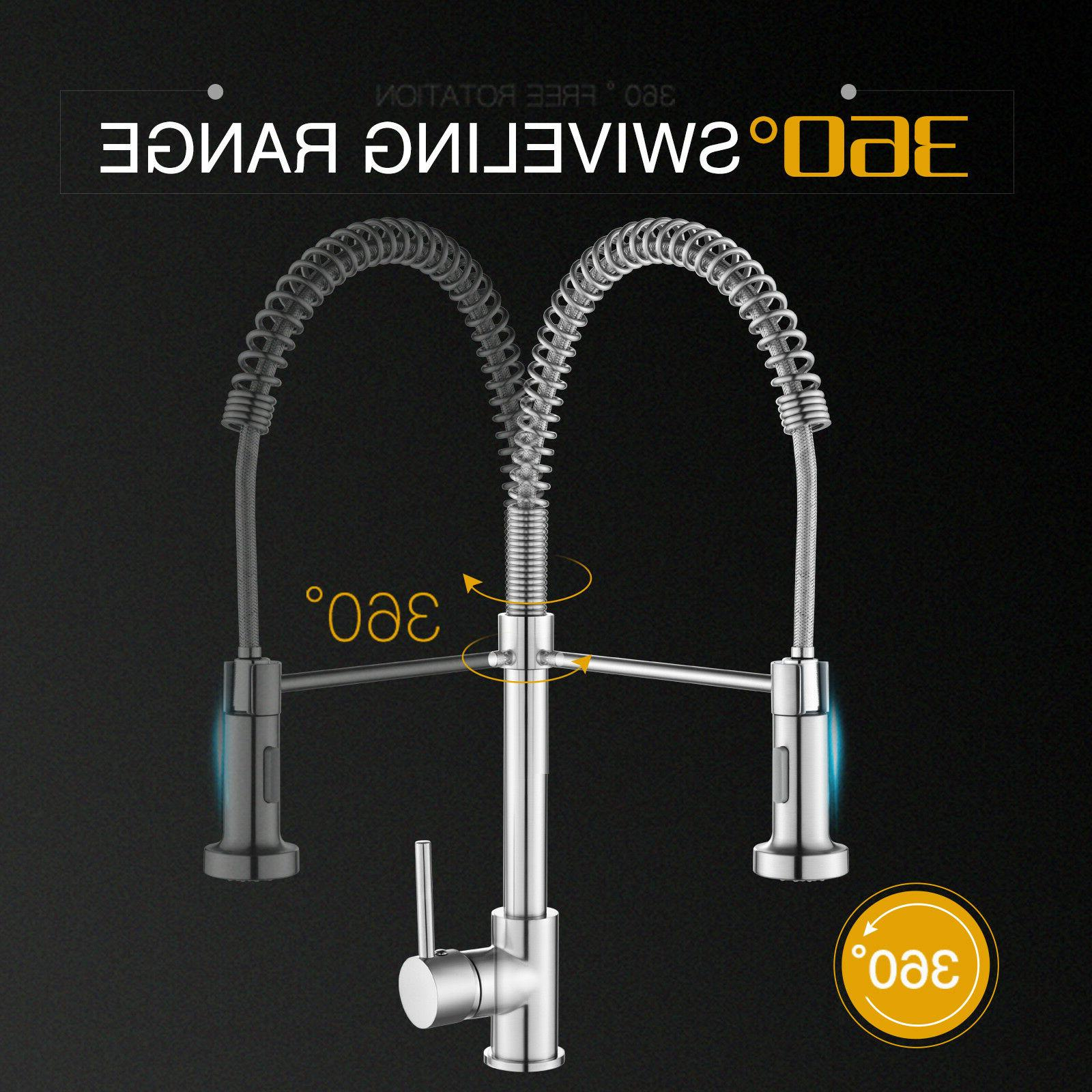 Kitchen Pull Out Faucet Brushed Handle