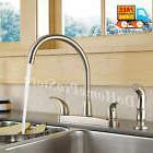 Kitchen Sink Faucet w/ Side Sprayer Brushed Nickel Two Handl