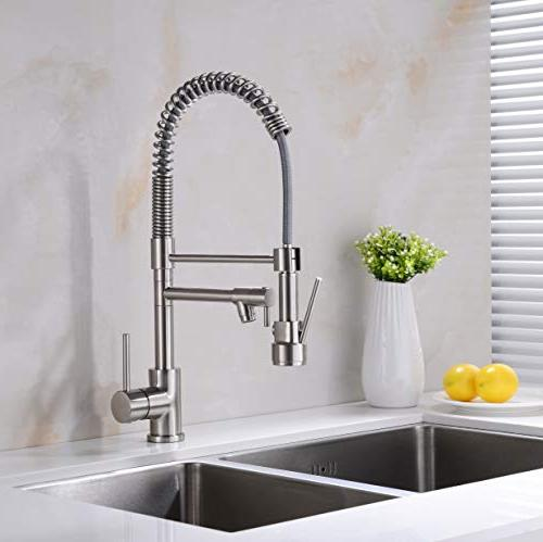 Avola Faucet,Single Handle Faucets Pull Sprayer, Brushed