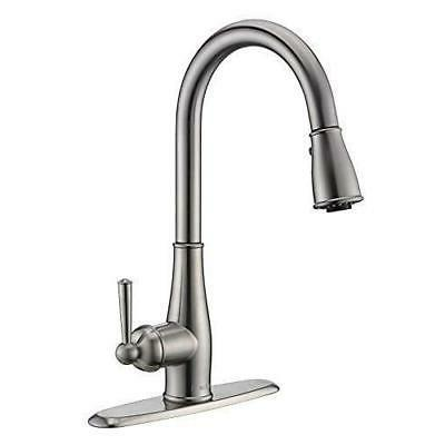knight single handle pull down kitchen faucet