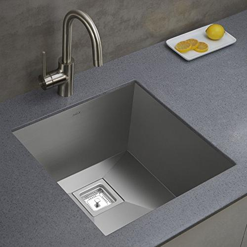 Kraus Single Kitchen Bar Faucet, Stainless