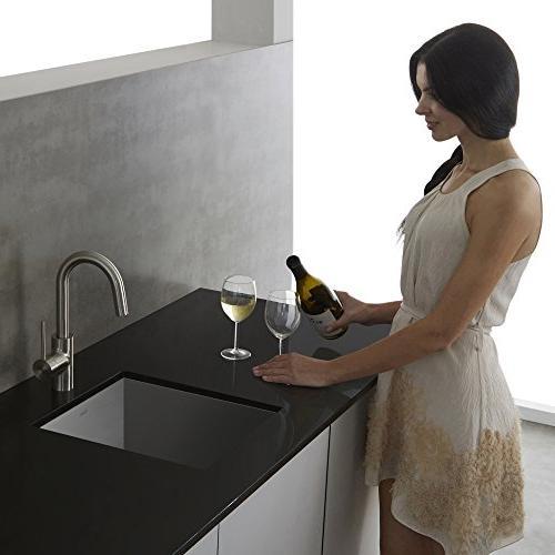 Kraus KPF-2600SS Modern Single Lever Bar Faucet, Stainless