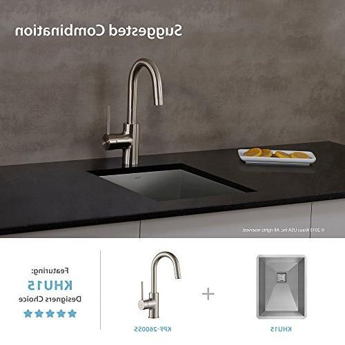 Kraus Modern Single Lever Faucet, Steel