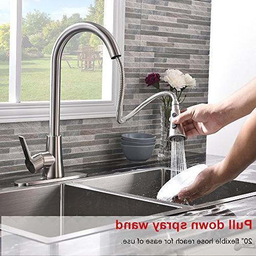 VALISY Commercial Single Handle Sprayer Kitchen Sink Faucets, Kitchen Deck Plate