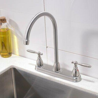 VCCUCINE High Goose Two Brushed Kitchen Faucet