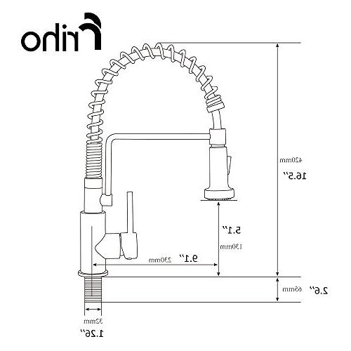 Friho Lead-Free Commercial Oil Rubbed Stainless Single Handle Single Pull Out Sprayer Spring Faucet, Kitchen Faucets