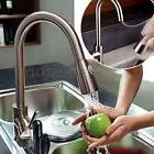 Luxury Kitchen Basin Vessel Sink Spray Pull Out Faucet Singl