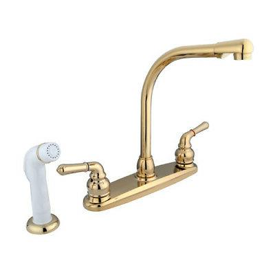 Kingston Brass Magellan High Arch Kitchen Faucet with Spraye