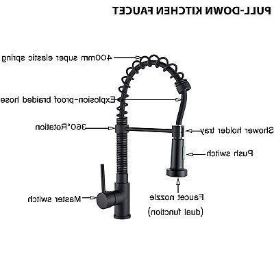 Spray Kitchen Faucet Swivel 1 Dispenser