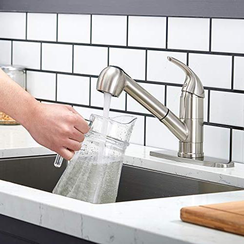 Modern Best Brushed Single Lever Pull Kitchen Sink Nickel Finished