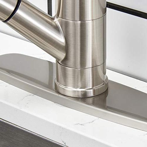Modern Best Brushed Single Lever Pull Out Prep Kitchen Faucets,Brushed Finished