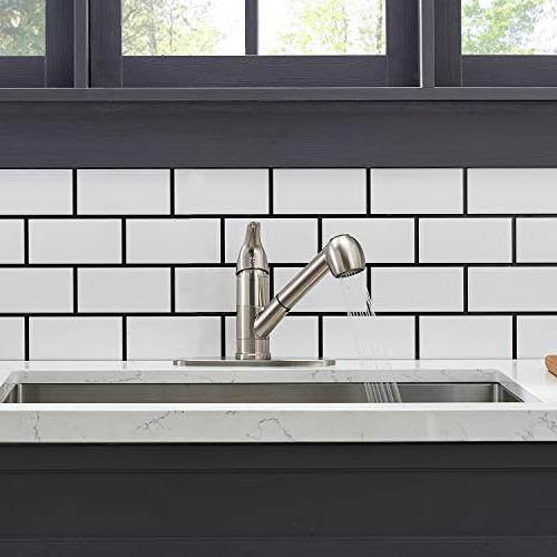 Modern Brushed Pull Out Sprayer Kitchen Sink Faucets,Brushed Finished