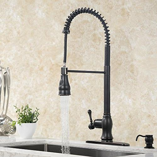VAPSINT Single Pull Stainless Pre Rinse Oil Faucet, Sink