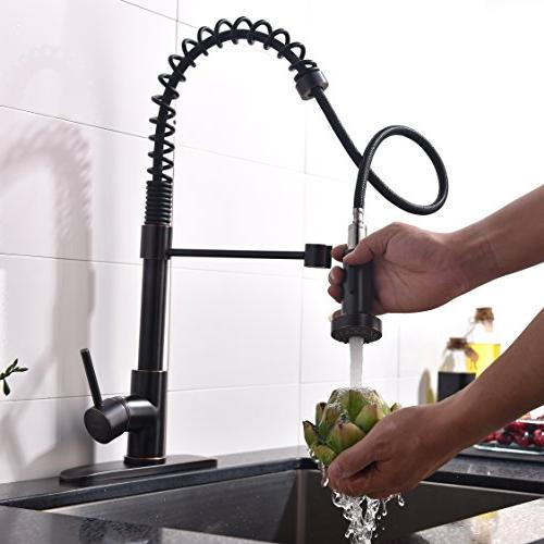 VAPSINT Modern degree Swivel Oil Bronze Out Kitchen Touch On Kitchen Sink Faucets