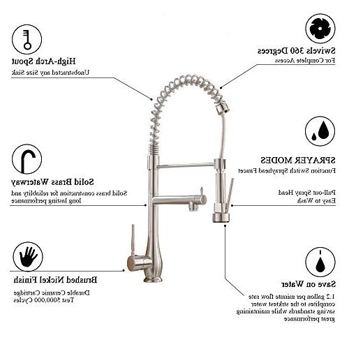 VAPSINT Modern Nickel Sink Faucets
