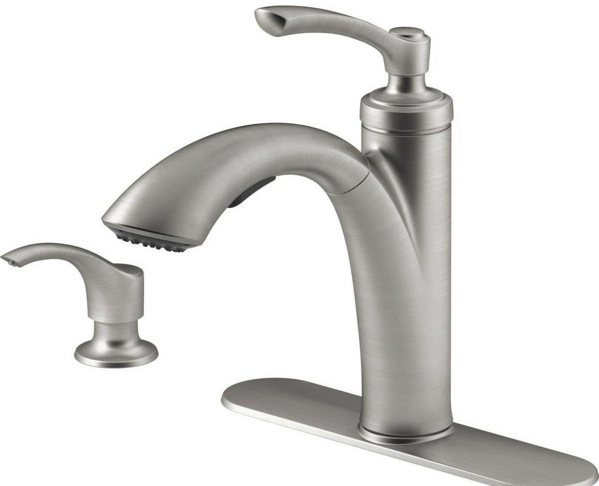 New Kohler Linwood R29670-SD-VS Pull-Out Kitchen Faucet w/ S