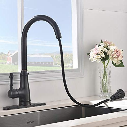 VAPSINT Pull-Down Kitchen Single Faucets with