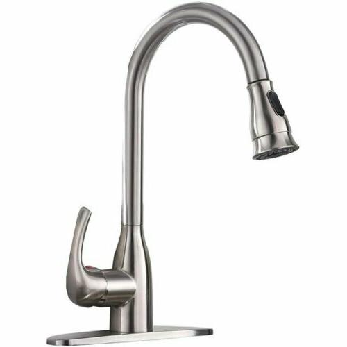 pull down single handle kitchen sink faucet