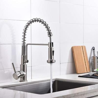 Pull Sprayer Kitchen Sink Bar Nickel Mixer Tap