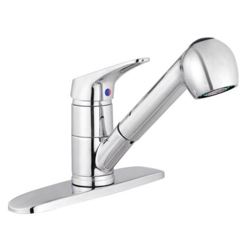 Pull-Out Spray Kitchen Faucet Swivel Spout Sink  Single Hand