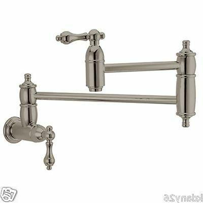 Kingston Brass Restoration Kitchen Faucet Pot Filler In Sati