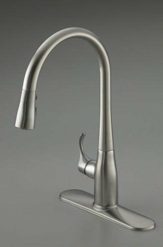 Simplice Hole Pull-Down Kitchen Faucet - Vibrant