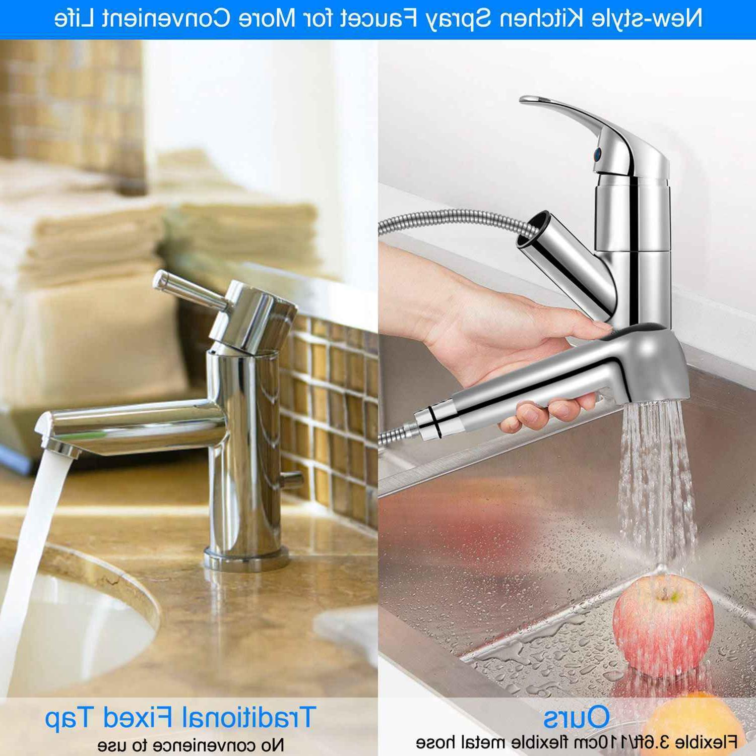 Pull-Out Spray Faucet Handle Polished