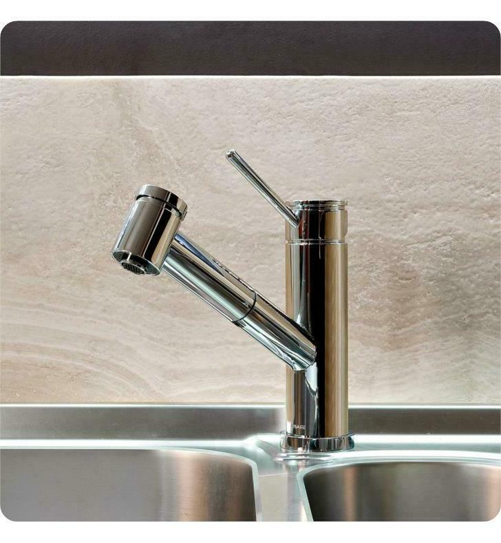 single handle deck mounted pull out kitchen