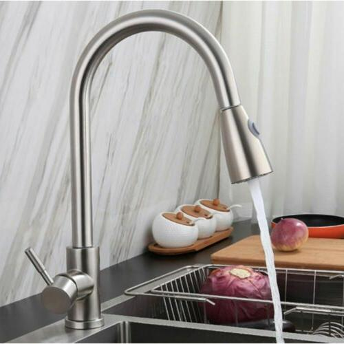 Single Brushed Faucet with Sprayer