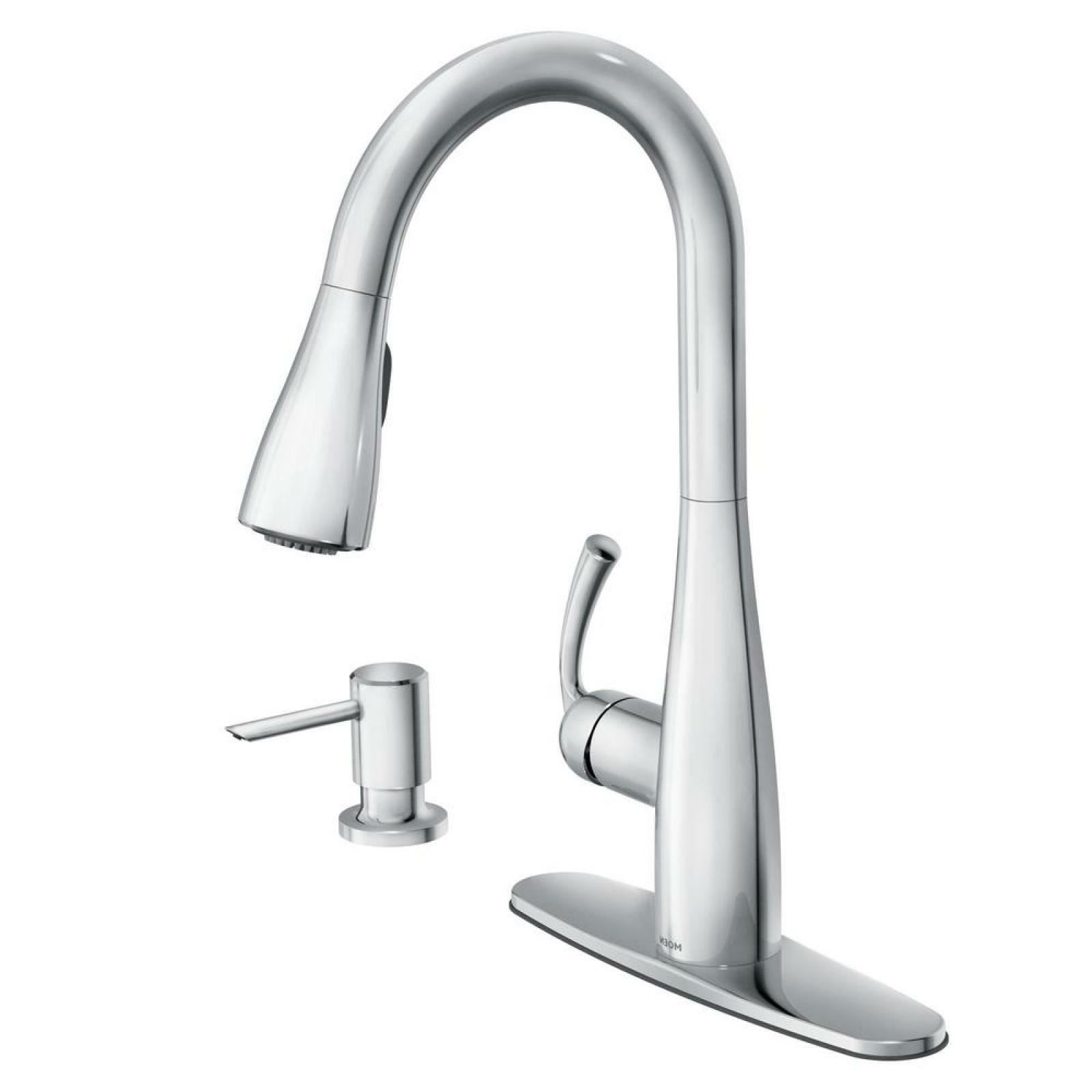 Single Handle Kitchen Faucet Pull Down Sprayer Head Ceramic